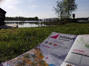 Kartan är nyckeln för att Hittaut. Den inbjuder till att upptäcka nya platser samtidigt som man kommer ut och motionerar på ett roligt sätt. Foto: Andreas Davidsson