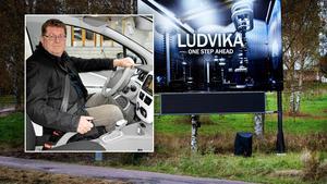 En digital informationstavla som finns i Ludvika liknande de som ska sättas upp i Borlänge.