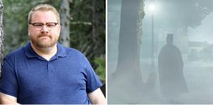 """Skribenten Nils Hjort berättar på onsdag om rösträttskämpar, diktatorer och varför det är frihet att åka utför Niagarafallen i en tunna. På söndag har Charlies Teater smygpremiär för den rysliga vandringen """"Vi går igen"""". Bild: Simon Olsson"""