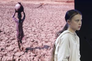 Greta Thunberg deltog i World Economic Forum. SVT:s reporter påstod att hon var