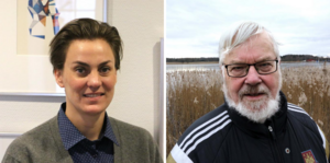 Caroline Dieker (M) och Staffan Korsgren (L).