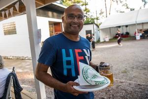 """Salim Reza uppskattar festivalen. """"Det händer inte så mycket i Sundsvall, så man måste passa på"""", säger han."""
