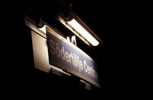 Pendeltågsstationen Södertälje centrum.