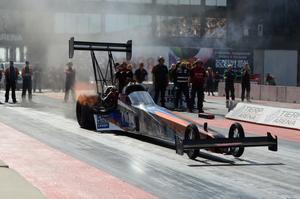 Norska Maja Udtian har snabbt etablerat sig i toppen i Top fuel.