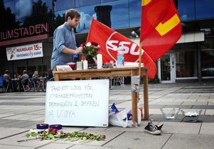 – Det är viktigt att visa att vi inte glömt, säger Daniel Olsson, SSU.