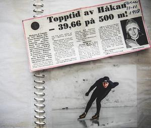 Håkan Sannemo gjorde under 40,0 sekunder på 500 meter. En riktigt bra tid.Foto: privat
