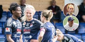 Alva Lundin skadade knät och Hanna Kallmaier (infälld bild) kunde knappt gå efter matchen mot Uppsala.