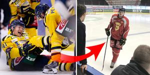 Alexander Falk bröt foten den 30 september. I helgen ska han spela match igen. Foto: Bildbyrån och Mittmedia