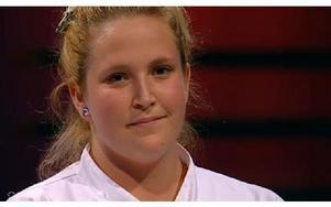 Emelie från Borlänge fick lämna Dessertmästarna. Foto: Kanal 5 Play