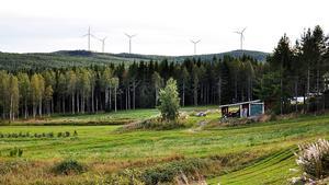 Det här fotomontaget som ingår i underlaget till länsstyrelsen utgår från Gastsjö bygdegård.