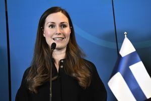 Finlands statsminister Sanna Marin föreslår en fyradagarsvecka eller en sextimmarsdag. Foto: Claudio Bresciani/TT