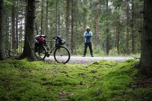 2014 gjorde han en cykelresa genom Dalarna, Härjedalen och Norge. Granskog är en av de miljöer som vagabonden trivs bäst i. Bilden är tagen i Västergötland. Fotograf: Lars Bengtsson
