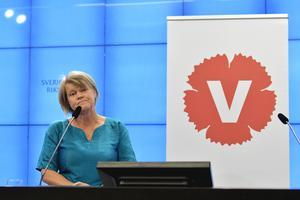 2016 fick Vänsterpartiet och Ulla Andersson, ekonomisk-politisk talesperson, igenom förslaget om gratis läkemedel för barn. Foto: Jessica Gow / TT