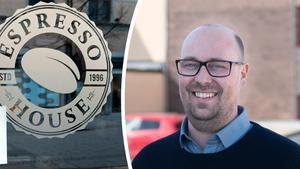 Espresso House kommer till Mora. Den första av tre hyresgäster i Åhléns-huset, hoppas Markus Westman på Diös.