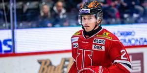 Linus Öberg var nära, nära men fick ingen fullträff mot HV71.