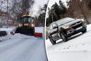 Skribenten har inte mycket till övers för snöröjningen i Sundsvalls kommun och menar att en suv är det enda vettiga färdmedlet. Bild: Lars Windh & Anders Wiklund/TT