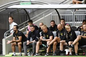 Elfsborg målvakt Tim Rönning (längst bak till höger) gör allsvensk debut i kväll.