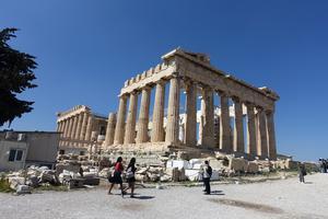 Parthenon i Aten. Minner om demokratins vagga.