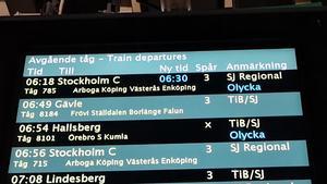 JUST NU: Tåg spårade ur utanför Örebro – orsakar inställda tåg och förseningar