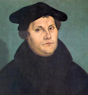 Martin Luther, målning av Lucas Cranach den äldre från 1529.