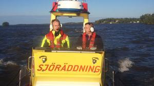 Joacim Feltendal  och Petter Yderfors under utryckning.