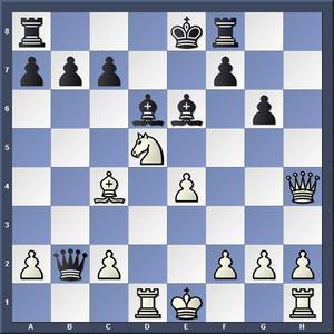 Lösning: 1.De7+ Lxe7 2.Sxc7.