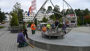 De nya konstverken på Pettersberg har mottagits väl av de boende i stadsdelen. Foto: Mikael Richter