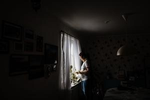 Jessica och hennes sambo stannade kvar i Sundsvall i två dygn och behövde inte ta in på patienthotellet eftersom det fanns plats.