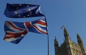 Ett minne blott. Vid midnatt mellan den 31/1 och 1/2 lämnar Storbritannien formellt EU. Nästan. Foto: Alastair Grant, AP