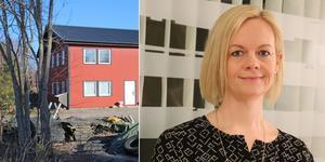 Mark- och exploateringschefen Caroline Thunström berättar att utvidgningen av Vansta industriområde beräknas vara klar cirka 2021.
