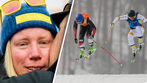 Sandra Näslund lämnade OS med tårar, utan medalj efter duellen med Fanny Smith. Foto: Carl Sandin/Joel Marklund (Bildbyrån).