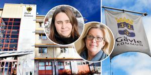 Gävle kommun får betala, medan Hofors tar emot, även om summan blir mindre än tidigare. På bilden kommunstyrelsens ordförande i Hofors, Linda-Marie Anttila (S), och Åsa Wiklund Lång (S), ordförande för Gävles kommunstyrelse.