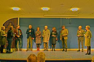 SPF:s mannekänger visade kläder. Foto: Gun Karlsson