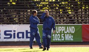 Stefan Lundin och Pelle Olsson tillsammans i GIF 1994. FOTO: LASSE HALVARSSON/ARKIV