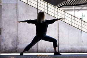 Yoga vid Twin Water resort i Australien. Foto: Privat