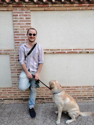 Fredrik Scheike trivs som Madridbo.