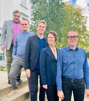 Regionens oppositionsråd: Henrik Olofsson, (SVG), Alexander Hägg, (M), Hans Backman, (L), Jennie Forsblom, (KD) och Patrik Stenvard, (M). Region Gävleborg.