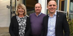 Irene Homman (S), Jan Wiklund (M) och Fredrik Jarl (C) har hittat sätt att samarbeta över partigränserna.