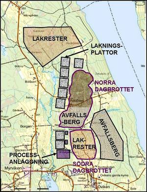 I förhållande till redovisningen 2010 är det norra dagbrottet avsevärt större. Dagbrotten i Oviken anges nu till cirka 3,7 kvadratkilometer i bolagets uppdaterade rapport.
