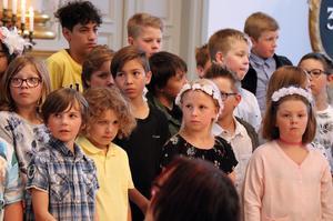 Eleverna lyssnade på de råd som förmedlades inför såväl stundande lov som skolbyte.