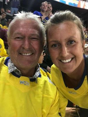 Pappa Jan Backlund och syster Madelene Backlund. Foto: Privat