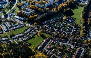 Flygbild över Bårstafältet. Foto: Södertälje kommun