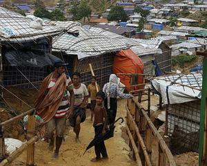 Flyktingläger i Bangladesh för rohingyer som flytt från Myanmar. Foto: Frederik Frisell/Sida/TT