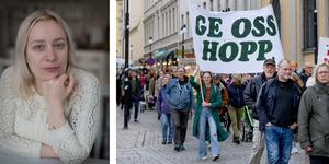 En klimatdemonstration i Örebro den 27 september 2019. Porträttfoto: Emma Ode