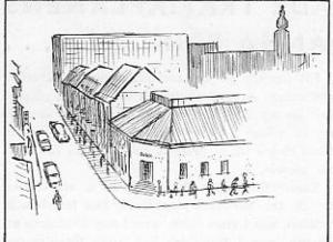 """""""En helt fri biltrafikutveckling skulle kräva en breddning av Stora Gatan från 12 till 56 meter…"""". (citat ur: Samordnad trafikplan, Västerås 1961)"""