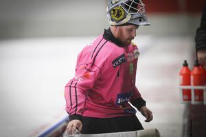 Målvakten Henrik Rehnvall svarade för många bra räddningar under matchen.