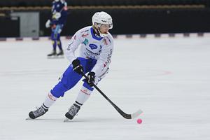 Viktor Hjelm under mötet med Villa Lidköping i Svenska cupen tidigare under säsongen.