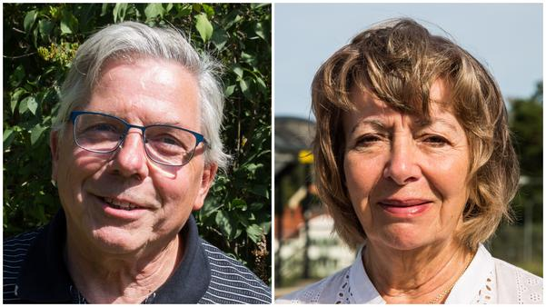 Börje Karlsson (C) och Anne-Marie Falk (L) är inte säkra på om deras respektive partier vill ingå i en styrande majoritet i Nykvarn.