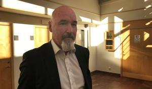 Per Råström, advokat som försvarar den mordmisstänkte mannen i 30-årsåldern.