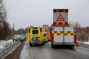 Köer uppstod i båda riktningarna på E 45 i samband med olyckan då båda körfälten var avstängda.